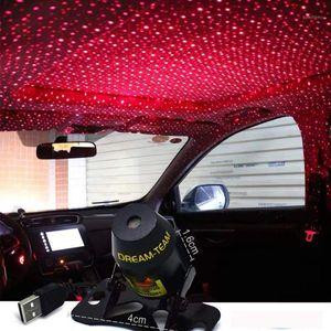 USB Mini LED Car Roof Star Night Lights Projector Light Interior Ambient Atmosphere Galaxy Lamp Decoration Light1