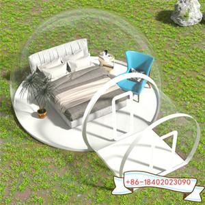 5m room with 2m door waterproof camping tent clear inflatable bubble tent   inflatable igloo camping clear1