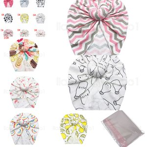 دونات Flamingo Turkban Hat 10 Styles Kids Baby الرضع العمامة القبعات الطفل عقال bowknot في الهواء الطلق قبعات الاطفال هدية صالح FFA2861-1 4192