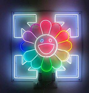 قوانغتشو مصنع مخصص الشمس ابتسامة الوجه النيون علامات البيرة بار حانة حزب متجر المنزل غرفة جدار ديكور 50 * 50 سنتيمتر