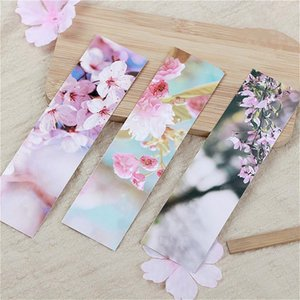 Bookmark 30Pcs Kawaii Japanese Sakura Paper Bookmarks For Books School Supplies Accessories Stationery Pink Tiny Lovely Page Holder