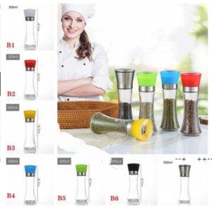 Home Stainless Steel Manual Salt Pepper Mill Grinder Seasoning Bottle Grinders Glass Kitchen Accessaries Tool Premium Salts GWD10374