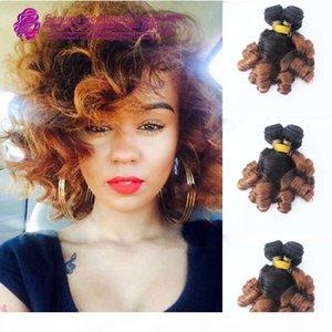 Перуанские функции Curl Ombre человеческие пакеты волос Funmi волос 100 г Бунслетво-тон # 1b до # 30 однорисовые двойные слои волос
