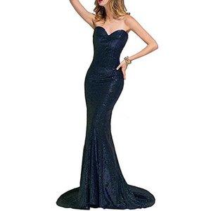 New wedding slim Sequin waist fish tail bra wedding dress party dress1CR0LLHBLLHB