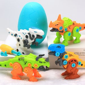 Hot product the dinosaur DIY play Toys for children funny Dinosaur egg Large grain building block Surprise lol doll