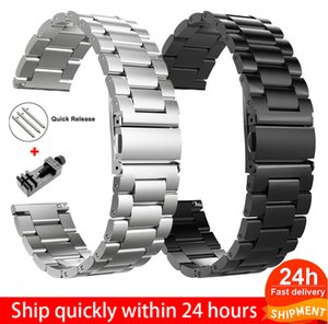 18mm 22mm 20mm 24mm Watch Band Strap For Samsung Galaxy 3 Watch 42 46mm GEAR S3 Active2 Classic quick release Stainless Steel