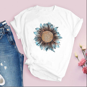 Women Graphic Flower Floral Girl 90s Short Sleeve Vintage Print Tops Lady Tees Clothing Female T Shirt Womens T Shirt