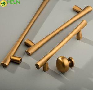 """3.77 """"~ 7.55"""" Cabinette en bronze jaune Pulls Boutons de commode Tiroir Poignées Poignées de cuisine Porte de cuisine Tourne à barres de poignée de poignée de meubles"""