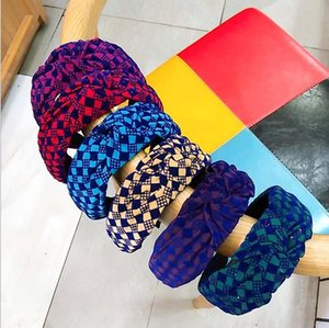 Autumn Winter HairBands Woman Knitted Fabric Knot Hair Bands For Women Elastic Hairband Hair Accesories For Girls 2021 New