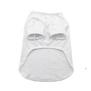 Sublimation Blank White DIY Vest Pet Dog Sleeveless Thin Vest Small Pet Heat Transfer Print Pet T-shirt BWC6358