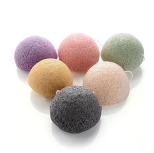 New Konjac Sponge Facial Puff Face Cleanse Washing Sponges Konjac Konnyaku Exfoliator Cleansing Sponge Tools Bath Brushes GWA3764