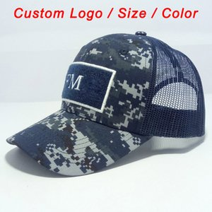 Camo cap army hat camouflage color tennis sport football baseball beach sun headwear custom snap mesh back trucker hat Q0305
