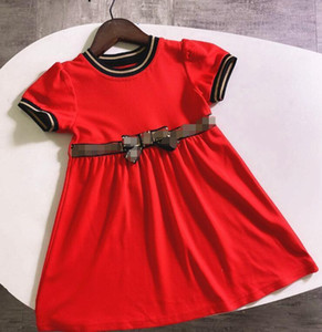 Designer Girl's Dresses Letter F F Kids Bow Cute Dresses Elegant Short Sleeve Skirt Luxury Baby Girl's Clothing Lace Princess Dress
