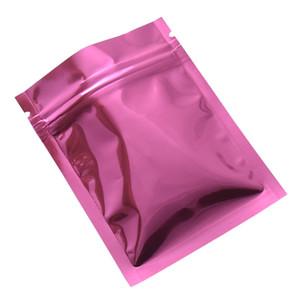 7.5*10cm 2021u Zipper Top Mylar Foil Bag Reclosable Aluminum Foil Zip Lock Package Bag Heat Sealable Food Grocery Sample Bags 100Pcs lot