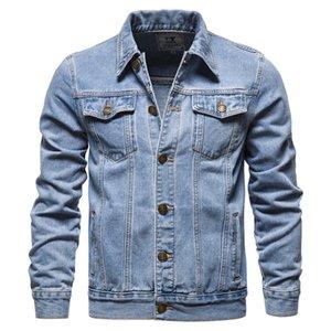 남성 청바지 재킷 라이트 블루 데님 코트 고품질 코튼 슬림 새로운 봄 S 캐주얼 Jean