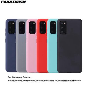 Anti-knock Candy Color Silicone Cases on For Samsung Galaxy Note 20 Ultra Note20 Phone Cover Slim Soft TPU Matte Coque