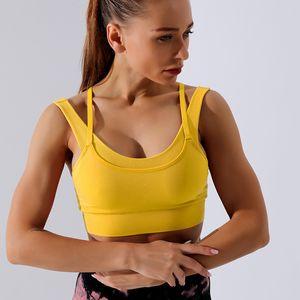 Yoga Vest Shockproof Four Layer Sports Bra Women's Four-layer Moisture Wicking Fitness Sports Underwear