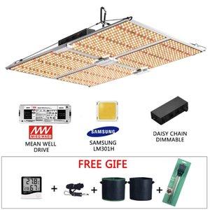 Samsung LM301H Quantum LED Grow Light Aluminum Board Full Spectrum 3500K UV IR With Daisy chain IP65 Waterproof Indoor Grow Lamp