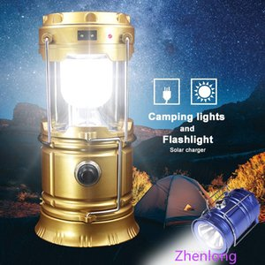 New Portable Outdoor LED Camping Lantern Solar Collapsible Light Outdoor Camping Hiking Super Bright Light