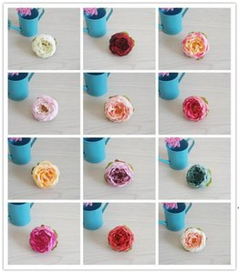 New Silk Peony Flower Heads Artificial Flowers Wedding Decorations Home Party Simulation Flower Fake Flowers Heads DIY Bride Garland OWD5033