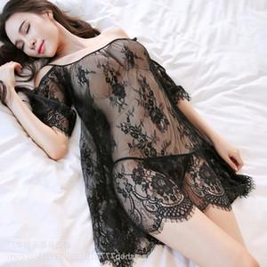 Ropa Xinze ropa interior encaje sexy suspendiente tonterías pijamas recta