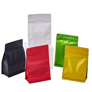 50 قطع لون الألومنيوم احباط الذاتي أكياس الختم القهوة وجبة خفيفة كوكي التوابل الهدايا أكياس تخزين