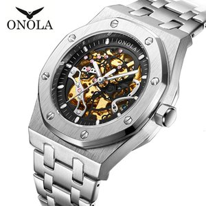 Onola High Quality Business Sports Hollow Out Automatic Mechanical Men's Steel Band Waterproof Watch