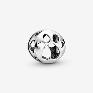 2020 Spring New 925 Sterling Silver Beads Openwork Paw Print Charms fit Original Pandora Bracelets Women DIY Jewelry