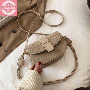 Winter New Fashion Saddle Mini Leisure Mobile Phone Ladies Shoulder Diagonal Female Bag C0225