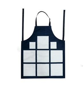 Sublimação 9 xadrez aventais Sublimação Bobina de espaços de cozinha Impressão Óleo à prova de óleo de algodão antifounce Aventais HWB5154