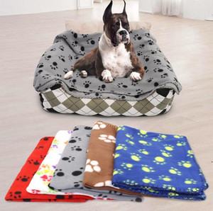 Dog Blanket Dog Claw Printed Blankets Throws Pet Cat Sleeping Mat Pets Bath Towel Warm Winter Pet Supplies 60X70cm DWD4951