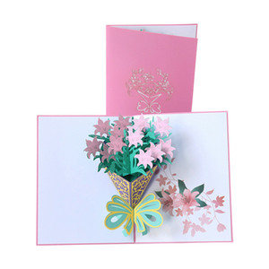 Mother's Day Card 3D Pop-Up Flowers Birthday Card Anniversary Gifts Postcard Mothers Father's Day Greeting Cards GWA3816