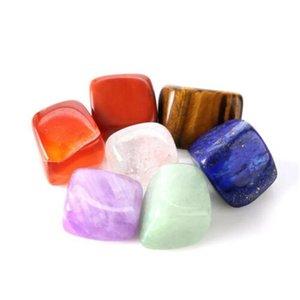 Natürliche Kristall Chakra Stein 7 stücke Set Natürliche Steine Palm Reiki Heilkristalle Edelsteine Yoga Energy Natural Crystal Chakra KKA4146