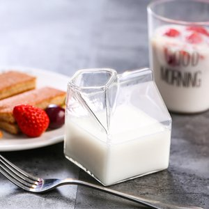 Factory direct creative American milk box glass milk cup free delivery