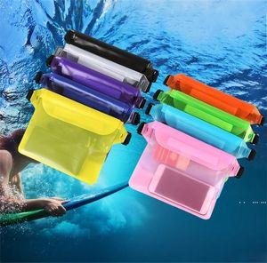 Waist Waterproof Phone Bag Summer Beach Boat Swimming Waterproof PVC Running Touch Screen Mobile Phone Pouch FWA4059