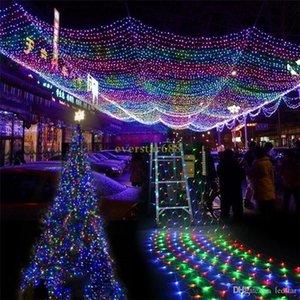 2021 LED Christmas Wedding party lights outdoor waterproof Net String Lights 2m*3m 4m*6m garland wedding decoration fairy Lights