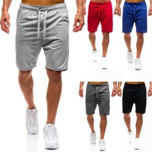 Swimming Shorts Summer Male Comfortable Pocket Sports Casual Short Pants Mens Elasticity Beach Shorts Fashion Trend Solid Colors Drawstring