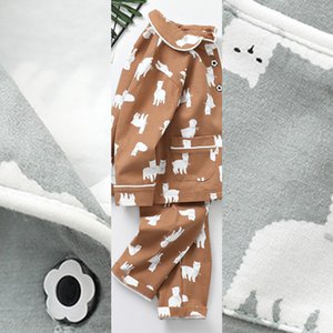 NOUVEAU HUMOR VÊTEMENTS ENFANTS AUTOMNE COTON PURE COTTON PUBLES POUR ENFANTS VÊTEMENTS CASSAL Vêtements Pantalons Pajamas Two-Parce 201104 Kjos