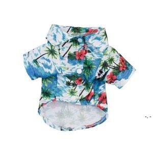 Летний Гавайский стиль стиль домашних животных полиэстер защита от солнца пылезащитный дышащий щенок пляж одежда XS-L 8 стилей DHE5147