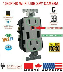 1080P WIFI SPORT IP Video Video Video Cámara Funcional CA Socket Socket con puerto USB Housekeeper Nanny Cámara