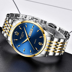Mens Watches Luxury Man Quartz Watch Analog Date Week Sport Casual Wristwatch Full Steel Waterproof Watch Men Clock