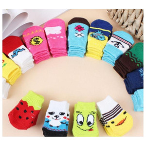 Hot Pet Dog Cat Warm Socks For Winter Cute Puppy Dogs Soft Cotton Anti-slip Knit Weave Sock Skid Bottom Dog Cat Socks jllrZq xmh_home