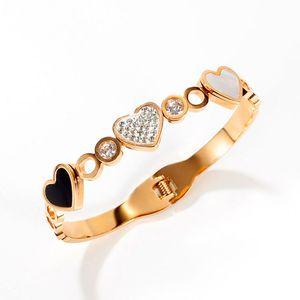 Hohe Quatity Titanium Stahl Charme Armbänder für Frauen Einfache Liebe Paar Kette Armreif Designer Luxus Schmuck Herren Gold Armband Mode Silber Armreifen