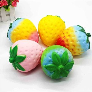 11.5CM Giant Jumbo Squishy Strawberry Slow Rise Squeeze Fidget Toys Large Squish Soft Simulation Fruit Kids Christmas Gift Anti Anxiety Hand Finger Toy G97KITO