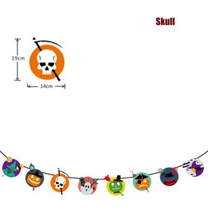 Halloween Banners Flags Party Hanging Decorations Supplies Witch Pirate Pumpkin Skull Doll Banner Party Hanging Decorations JK1909XB