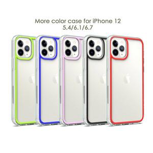Transparent Acrylic TPU Phone Case For iPhone 12 mini 12 11 Pro MAX XS XR XS MAX 7 8 Plus Samsung S20 Ultra