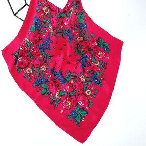 Shawls Luxury Besigner Fashion Style Russian Ethnic Pattern Women Cotton Small Scarf Handkerchief 70CMX70CM Hijab Shawl