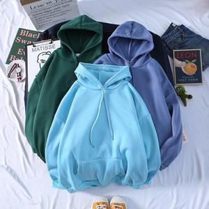 Autumn New Plus Hoodies Men Fashion Solid Color Casual Hooded Sweatshirt Mens Streetwear Wild Hip Hop Hoodie Mens Hoody M-3XL