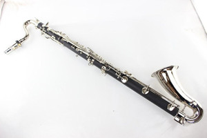 New Buffet Bass Clarinet High Quality Bakelite Bb Clarinet Drop B Tuning Clarinet Musical Instrument Silver Plated Key With Case Mouthpiece