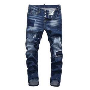 mens luxury designer jeans denim black ripped pants best version Italy brand bike motorcycle rock revival Denim Fashion